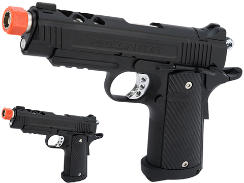 Predator Tactical Night Shrike Gas Blowback 1911 Pistol by King Arms