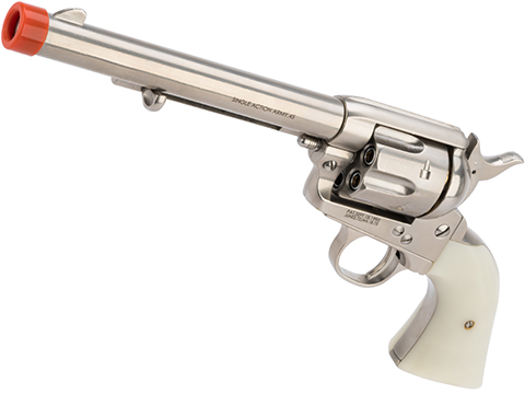 King Arms SAA .45 Peacemaker Gas Powered Revolver (Model: Cavalry Barrel / Silver)