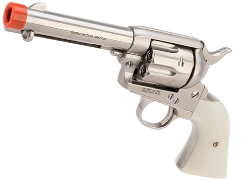 King Arms SAA .45 Peacemaker Gas Powered Revolver (Model: Short Barrel / Silver)