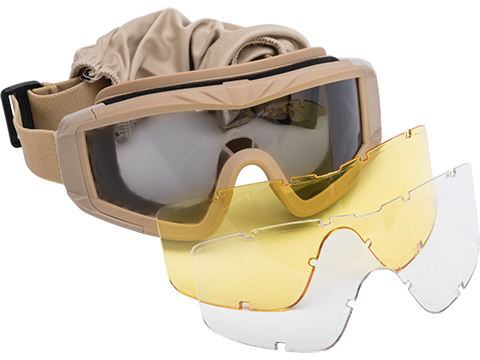 Matrix Tactical Systems Ultimate Protective Airsoft Goggles (Color: Tan)
