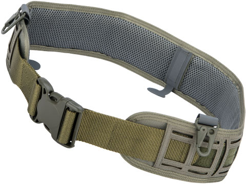 Matrix Tactical Laser Cut Lightweight Pilot Belt (Color: Ranger Green)