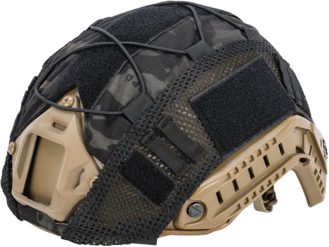 Matrix Bump Type Helmet Cover w/ Elastic Cord (Color: Multicam Black)