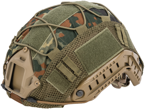 Matrix Bump Type Helmet Cover w/ Elastic Cord (Color: Flecktarn)