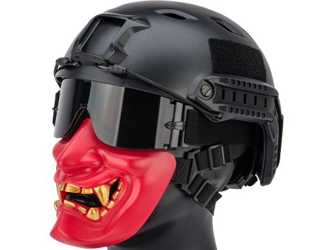 Matrix Oni Half Mask (Color: Red)