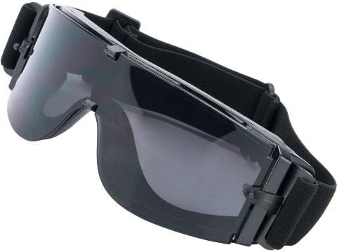 GX-1000 Anti-Fog Tactical Shooting Goggle System w/ CD Kane Strap by Matrix (Lens: Smoke / Black Frame w/o Carry Case)