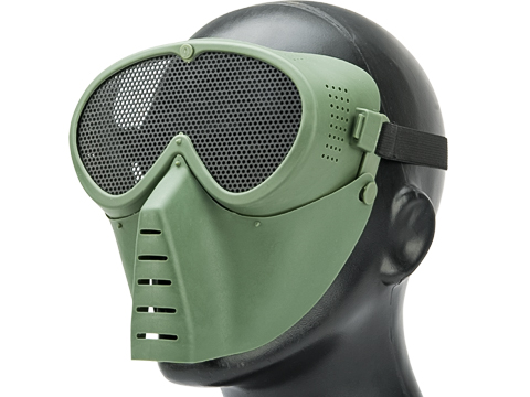 Avengers Tactical Low Profile Airsoft Mesh Mask (Color: OD Green)