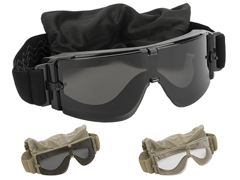 GX-1000 Anti-Fog Tactical Shooting Goggle System w/ CD Kane Strap by Matrix (Lens: Smoke / Black Frame)