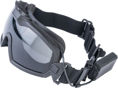 Matrix Tactical Anti Fog Goggle w/ Fan (Color: Black)