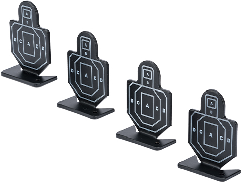 Matrix Airsoft IPSC Style Practice Aluminum Target Set (Package: Set of 4)