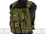 Avengers Tactical Spec. OPS MOLLE Plate Carrier / Load Bearing Vest (Color: Woodland)