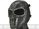 Matrix High Speed Wire Mesh Chastener Skull Mask - Chrome