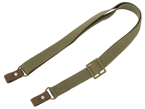 Matrix Eastern Block Style Canvas and Leather Two Point Sling (Color: Tan)