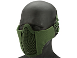 Matrix Low Profile Iron Face Padded Lower Half Face Mask (Color: OD)