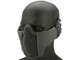 Matrix Low Profile Iron Face Padded Lower Half Face Mask (Color: Grey)