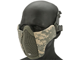 Matrix Low Profile Iron Face Padded Lower Half Face Mask (Color: ACU)