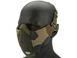 Matrix Low Profile Iron Face Padded Lower Half Face Mask (Color: Woodland)