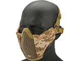 Matrix Low Profile Iron Face Padded Lower Half Face Mask (Color: AOR1)