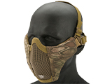 Matrix Low Profile Iron Face Padded Lower Half Face Mask (Color: Arid Serpent)