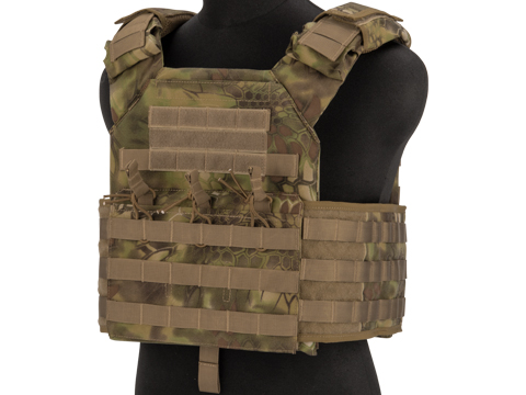 Matrix Level-2 Plate Carrier with Integrated Magazine Pouches (Color: Woodland Serpent)