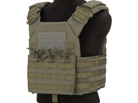 Matrix Level-2 Plate Carrier with Integrated Magazine Pouches (Color: Ranger Green)