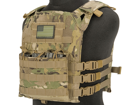 Matrix Level-1 Plate Carrier with Integrated Magazine Pouches (Color: Multicam)