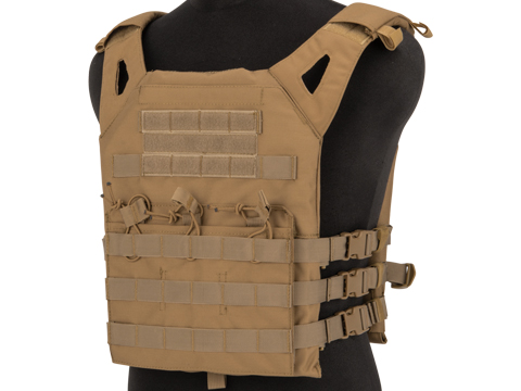 Matrix Level-1 Plate Carrier with Integrated Magazine Pouches (Color: Tan)