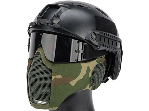 Matrix Carbon Striker Mesh Mask w/ Integrated Mesh Ear Protection (Color: Woodland)