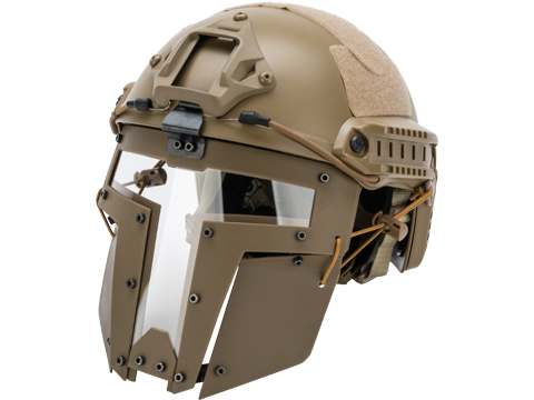 TMC SPT Windowed Face Mask for Bump Helmets (Color: Tan)