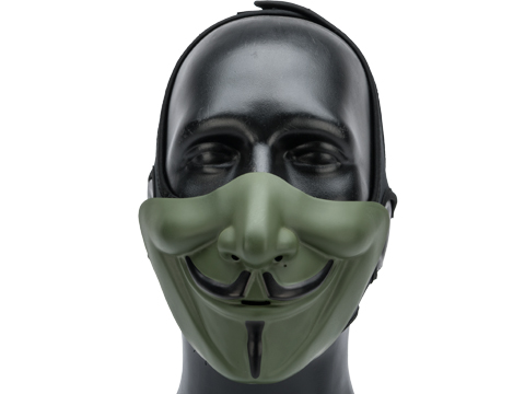 Matrix Vendetta Half Mask (Color: OD Green / Black)