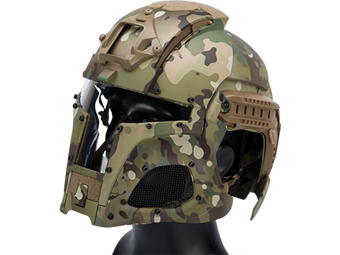 Matrix Medieval Iron Warrior Full Head Coverage Helmet / Mask / Goggle Protective System (Color: Camo)
