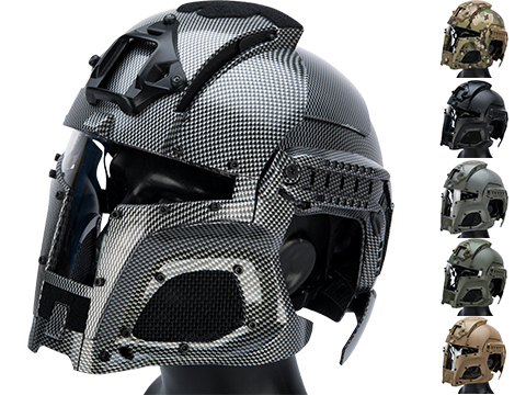 Matrix Medieval Iron Warrior Full Head Coverage Helmet / Mask / Goggle Protective System