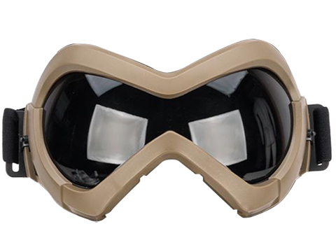 6mmProShop Slipstream Face Mask (Color: Tan Frame / Clear Lens)