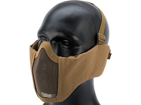Matrix Battlefield Elite Mesh Mask w/ Integrated Ear Protection (Color: Tan)