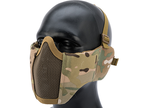 Matrix Battlefield Elite Mesh Mask w/ Integrated Ear Protection (Color: Camo)