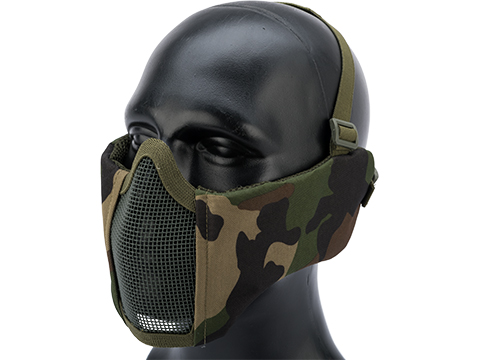 Matrix Battlefield Elite Mesh Mask w/ Integrated Ear Protection (Color: Woodland)