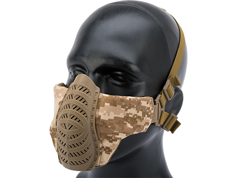 Matrix Low Profile Tactical Padded Lower Half Face Mask (Color: AOR1)