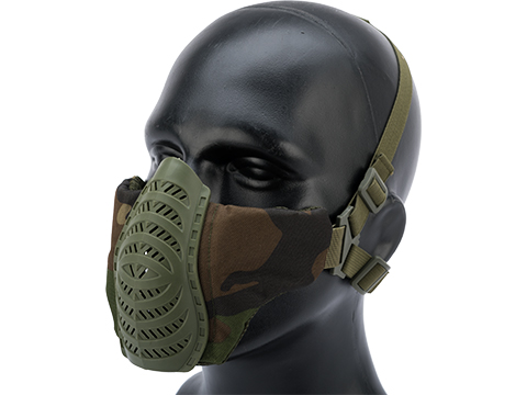 Matrix Low Profile Tactical Padded Lower Half Face Mask (Color: Woodland)