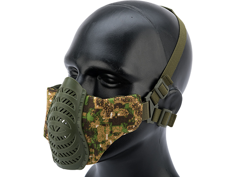 Matrix Low Profile Tactical Padded Lower Half Face Mask (Color: Pencott Greenzone)