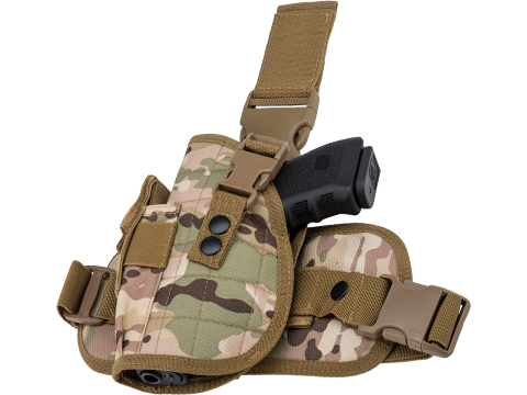 Matrix Special Force Quick Draw Tactical Thigh Holster w/ Drop Leg Panel (Color: Scorpion Camo / Left Leg)