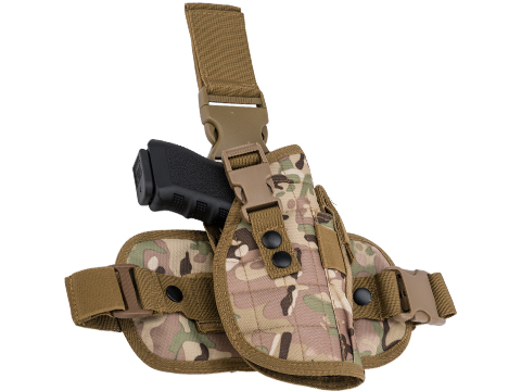 Matrix Special Force Quick Draw Tactical Thigh Holster w/ Drop Leg Panel (Color: Scorpion Camo / Right Leg)