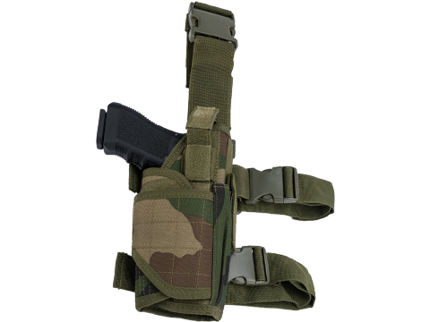 Matrix Tornado Universal Tactical Thigh / Drop Leg Holster (Color: Woodland / Right)