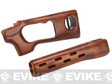 Eagle Force Real Wood Handguard & Stock Kit for SVD Series Airsoft Sniper Rifles