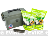 Evike.com Molded Polypropylene Stackable Ammo Can (Made in USA) BB Resupply Kit - (QTY: 10,000 Rounds / 0.25g)