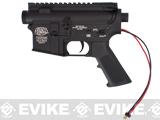 G&P Complete M4 Metal Receiver & Gearbox Airsoft AEG ProKit (G&P USA) (Version: Rear Wire / Black)
