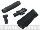AIM Tactical Railed For-end, Vertical Grip, Flashlight and Bandolier Combo Kit for Mossberg 500/590/590A1 Shotguns