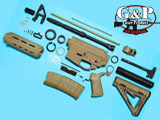 "G&P WOC ""Magpul M4 Desert Storm Custom"" Airsoft Gas Blowback GBB Rifle Challenge Kit"