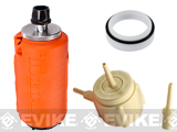 z Airsoft Innovations Tornado Airsoft Gas Powered BB Grenade w/ FREE Bang Device and Propane Adapter Kit - Impact / Orange