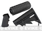 Furniture Kit for M4 Series Airsoft Rifles - Black