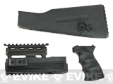 Matrix Synthetic Furniture Kit for AK Series Airsoft AEGs with Railed Handguard - Black