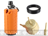 z Airsoft Innovations Tornado Airsoft Gas Powered BB Grenade w/ FREE Bang Device and Propane Adapter Kit- Timer / Orange